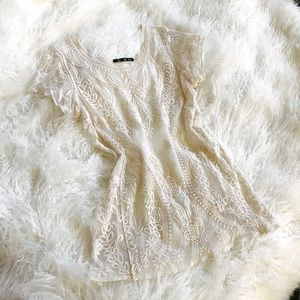 Tops - Creme Lace Top
